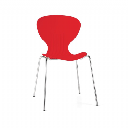 Bolero Red Stacking Plastic Side Chairs (Pack of 4) - GP502